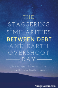 The staggering similarities between debt and earth overshoot day - we cannot have infinite growth on a finite planet #movethedate #earthovershootday
