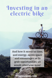 Investing in an electric bike, and how it saves us time and energy, saves space and grants us new opportunities. #biking #sustainability